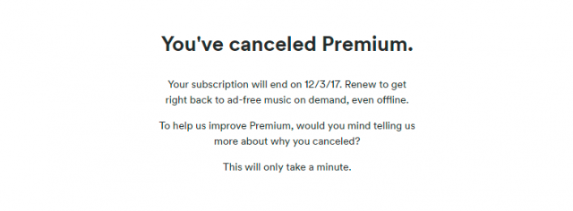 cancel spotify premium 3