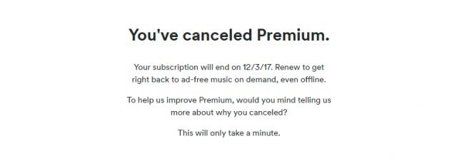 cancel spotify premium 3