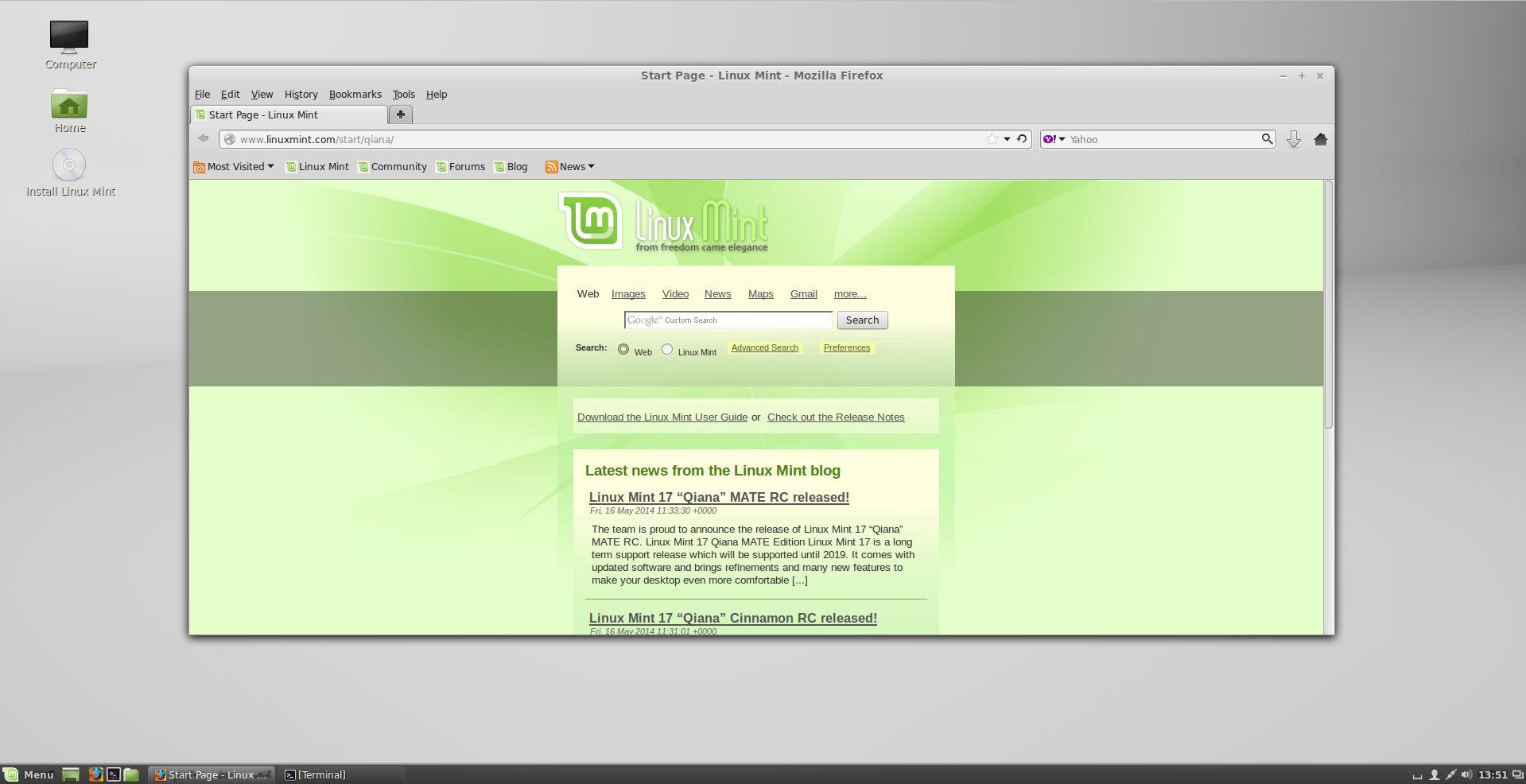 Linux mint 17 cinnamon rc screenshots