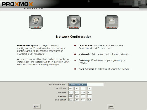 install proxmox 3.2 -6