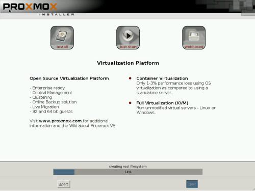 install proxmox 3.2 -7