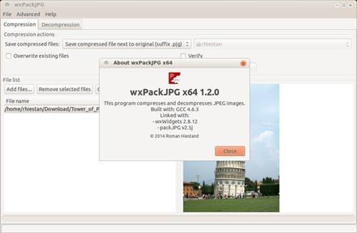 wxpackJPEG linux