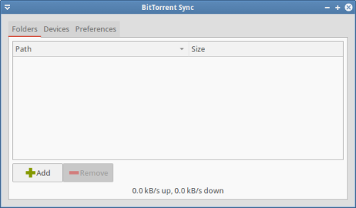 bittorrent sync on xubuntu 14.04