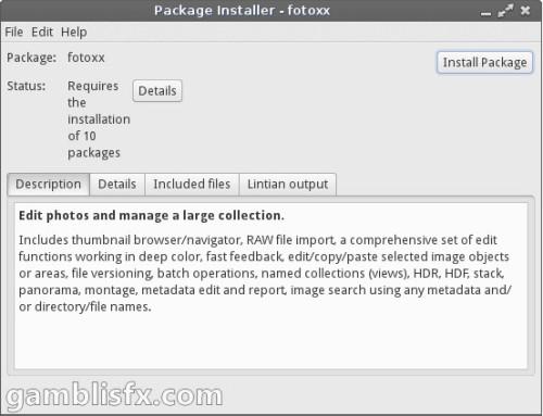 fotoxx on linux lite 2.0