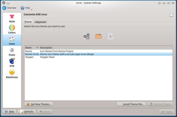 numix icon theme on kubuntu 14.04