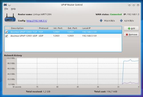 upnp router control kubuntu