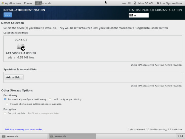 centos 7.0 installation tutorial 4