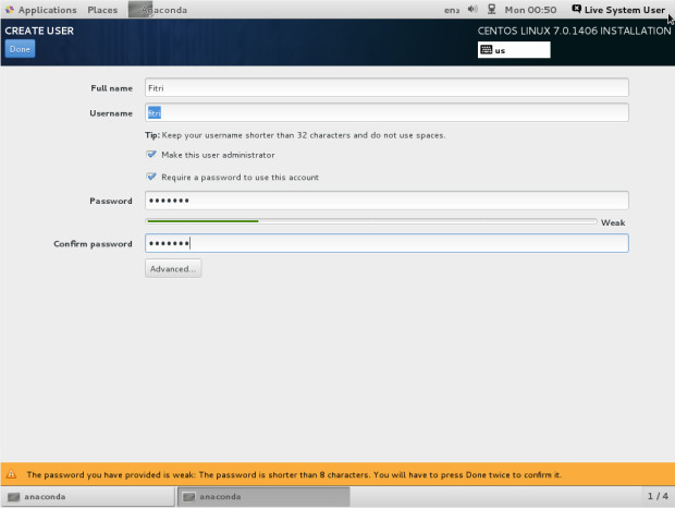 centos 7.0 installation tutorial 8