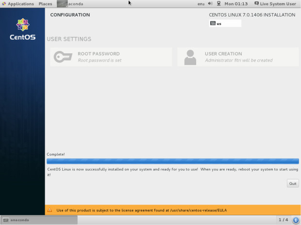 centos 7.0 installation tutorial 9