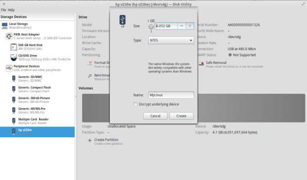 how to create ntfs partition using command prompt