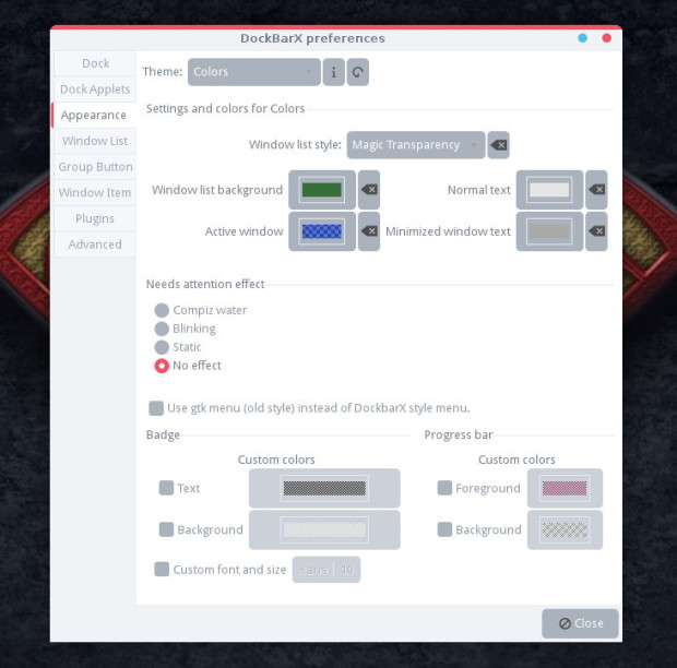 dockbarx preferences