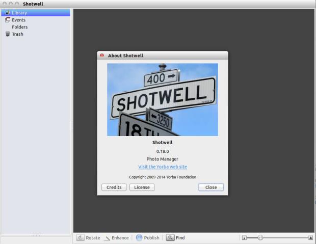 shotwell 0.18 on ubuntu 13.10