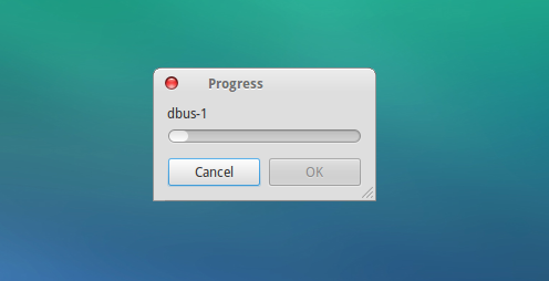 zenity progress dialog