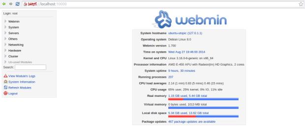webmin 1.7