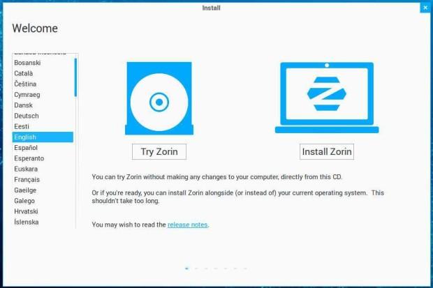 zorin 9 install 1