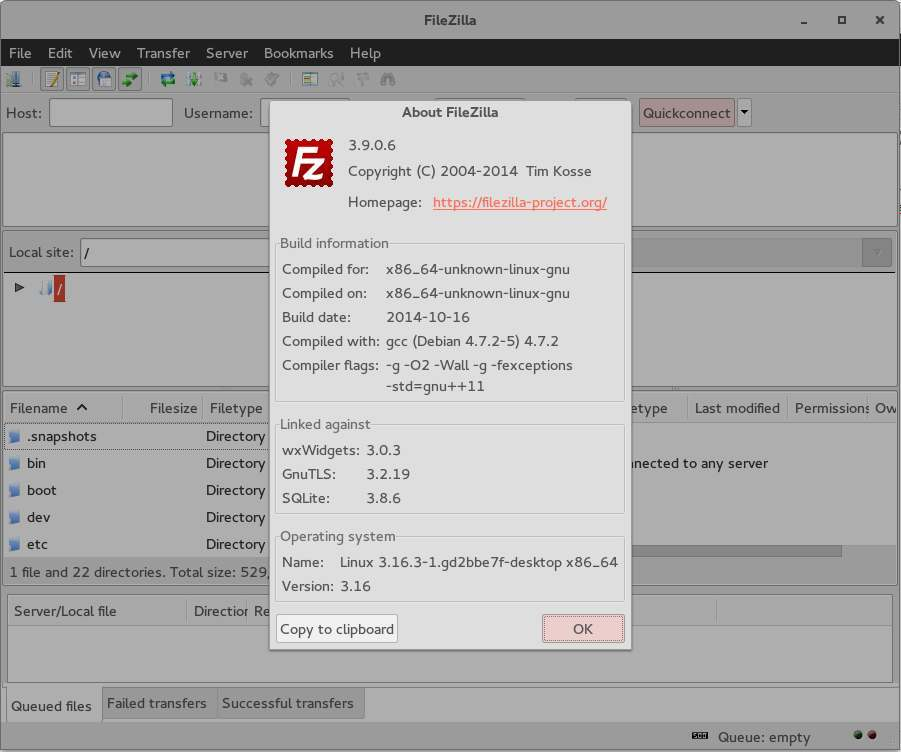 filezilla client einrichten