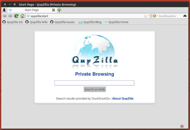qupzilla private browsing
