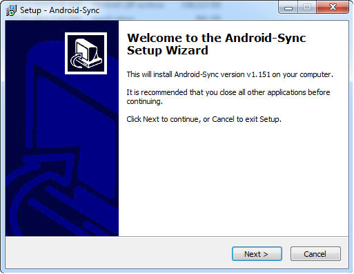 install android sync 1