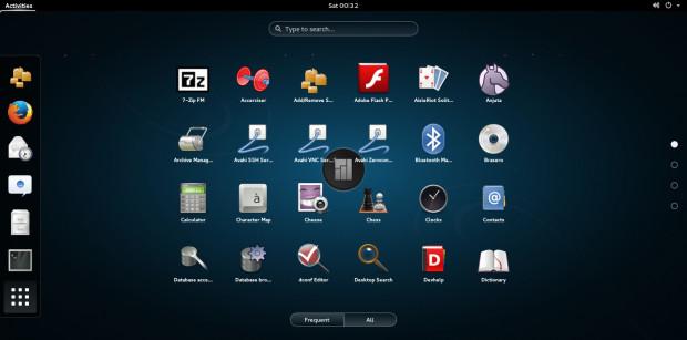 manjaro 0.8.10 gnome application menu