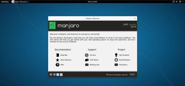 manjaro 0.8.11 desktop