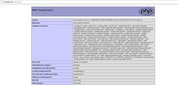 install php on manjaro