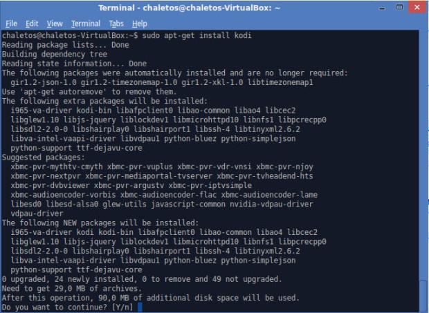 install kodi on xubuntu 14.04