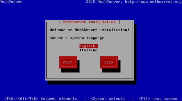 nethserver install 2