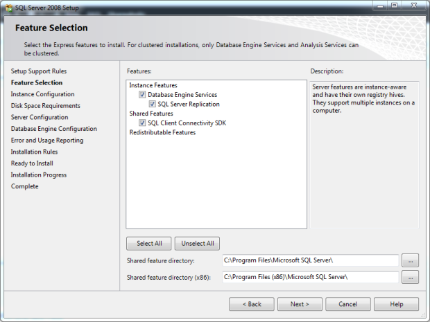 Microsoft SQL Server 2008 Express 32