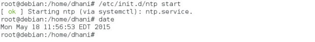 ntp on debian
