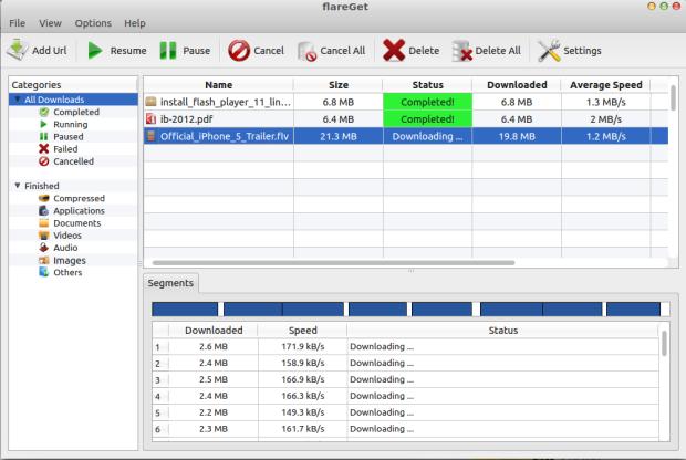 flareget 4.2.92 deb ubuntu