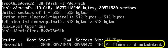 raid on fedora 22 server 2