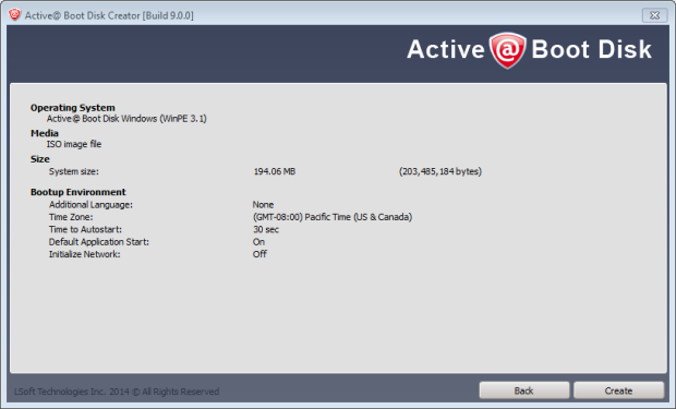 active boot disk 9 create iso 2
