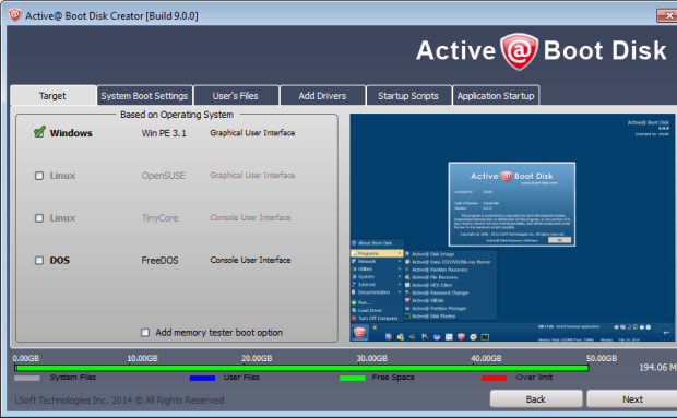 active boot disk 9 create iso