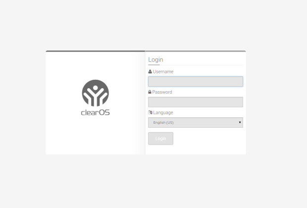 clearos 7 web console login
