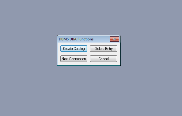 create new dbms catalog