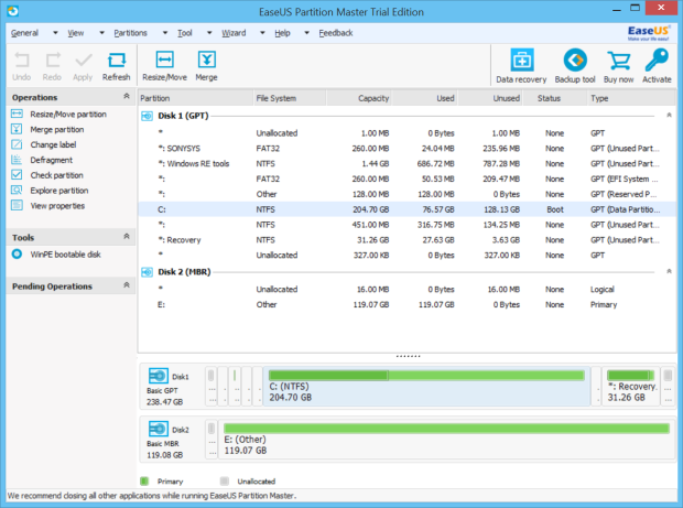 easeus partition master 10.5 full version 1