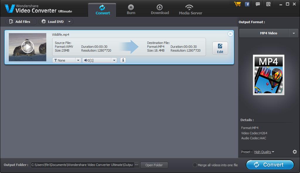 Wondershare video converter ultimate nice converter.