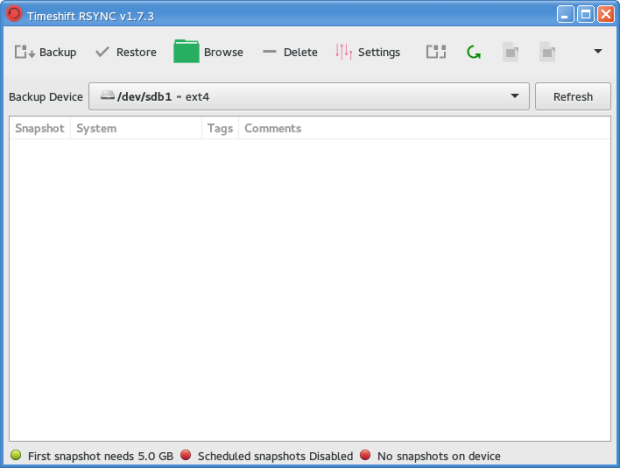 backup manjaro using timeshift 1