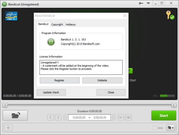 bandicut video cutter 1.3.1 screenshot 1