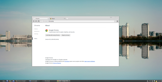 google chrome on linux mint 17.2