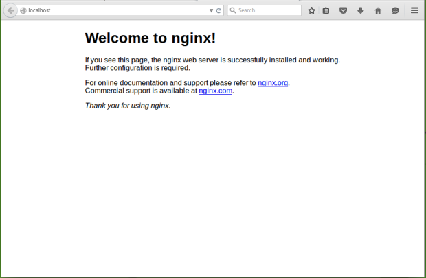 install nginx on manjaro