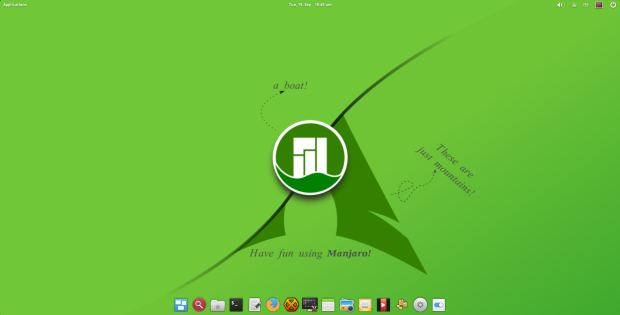 manjaro pantheon 2015.8 screenshot 1