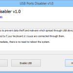 Restrict your USB port using USB Port Disabler 1.0