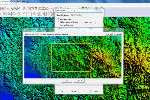 export srtm to grid using global mapper 1