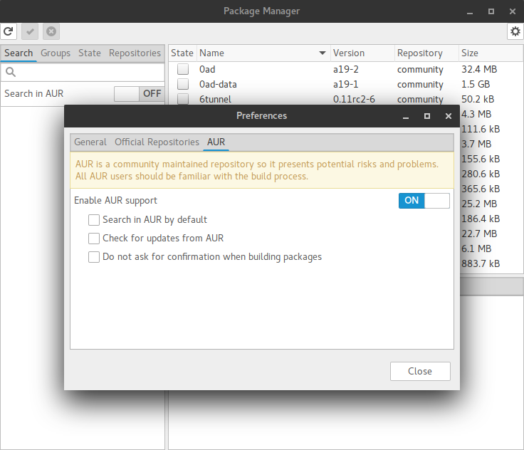 enable aur on manjaro 15.12.png