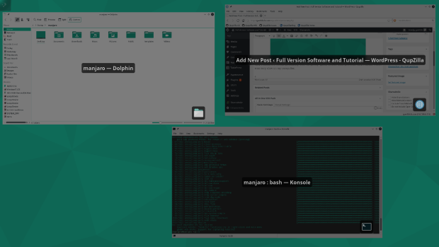manjaro 15.12 KDE screenshot 2