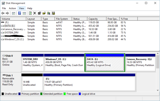 partisi di windows 10 2