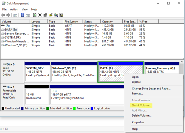 partisi di windows 10 3