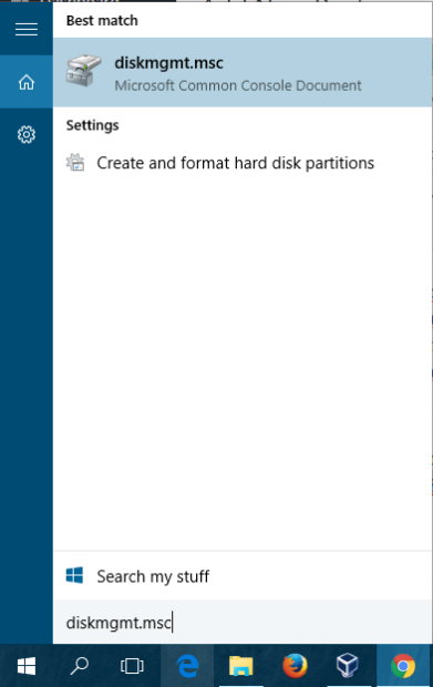 partisi di windows 10