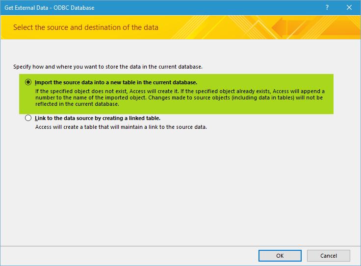 import mysql to ms access